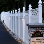 Outdoor lighting on fence