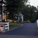 Outdoor lighting on driveway