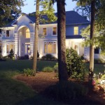 Outdoor lighting in front of house